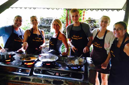 Learning to cook Thai food